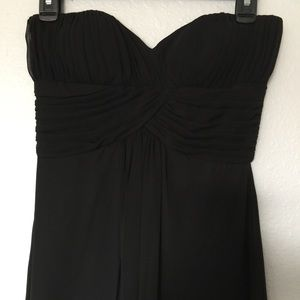 WHBM Strapless Black Mini Dress